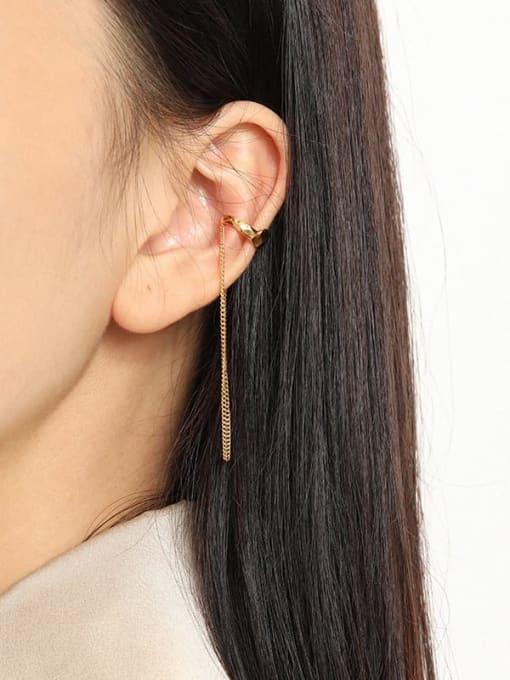DAKA 925 Sterling Silver Tassel Minimalist Threader Earring [Single] 2